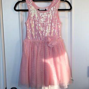 Girls Sequined Pink Dress